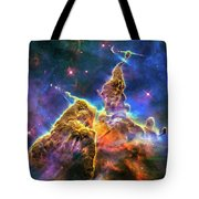 Space Image Mystic Mountain Carina Nebula Tote Bag