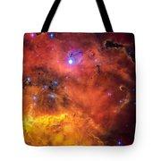 Space Image Red Orange And Yellow Nebula Tote Bag