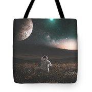 Space Man Tote Bag