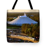Space Mountain And Monorail Peach Tote Bag