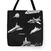 Space Shuttle Concepts Illustration Showing Late 1960s Designs Part Of The Phase A  A Prime Process Tote Bag