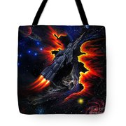 Space Shuttle. Flight Through The Never Tote Bag