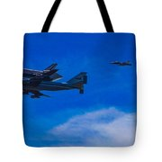 Space Shuttle Over Griffith Park Tote Bag