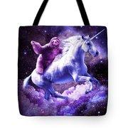 Space Sloth Riding On Unicorn Tote Bag
