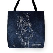 Space Suit Patent Illustration Tote Bag