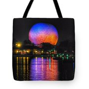 Spaceship Earth Reflection Tote Bag