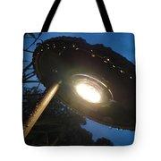 Spaceship Landscape Light Tote Bag