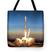 Spacex Iridium-5 Mission Falcon 9 Rocket Launch Tote Bag