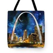 Spacey St. Louis Skyline Tote Bag