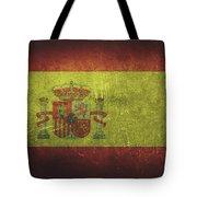 Spain Distressed Flag Dehner Tote Bag