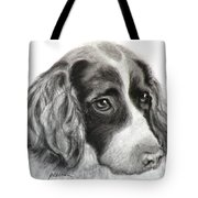 Spaniel Drawing Tote Bag