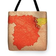 Spanish And Catalonia Tattoo With Stitches Tote Bag