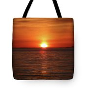 Spanish Banks Sunset - Digital Oil Tote Bag