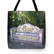 Spanish Bench Tote Bag