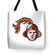 Spanish Conquistador Head Retro Tote Bag