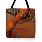 Spanish Guitar And Flute Tote Bag