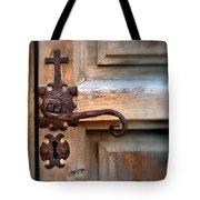 Spanish Mission Door Handle Tote Bag by Jill Battaglia