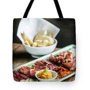 Spanish Smoked Meats Ham And Cheese Platter Starter Dish Tote Bag
