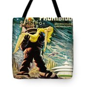 Spanish Version Of Forbidden Planet In Cinemascope Retro Classic Movie Poster Tote Bag