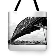 Spanning Sydney Harbour - Black And White Tote Bag