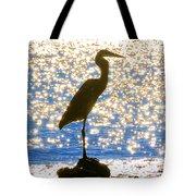 Sparkling Egret Tote Bag
