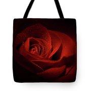 Sparkling Red Rose Tote Bag