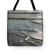 Sparkling Sunshine On Gentle Surf Tote Bag by Carol Groenen