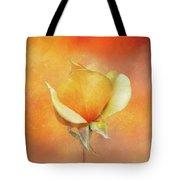 Sparkly Peach Rose Tote Bag
