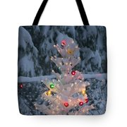Sparkly Tree Tote Bag