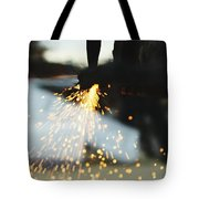 Sparks From Cutting Metal Tote Bag