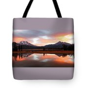 Sparks Lake Sunrise Tote Bag