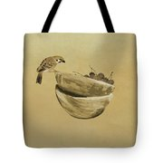 Sparrow And Bowl Of Cherries Tote Bag