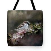 Sparrow In The Garden Tote Bag