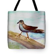 Sparrow On A Branch Tote Bag