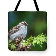 Sparrow With Lunch Tote Bag