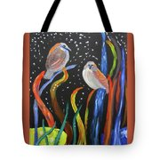 Sparrows Inspired By Chihuly Tote Bag