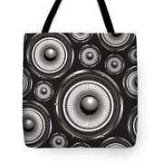 Speakers Over Black Tote Bag