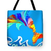 Speaking With Dolphins Tote Bag