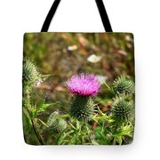 Spear Thistle Tote Bag