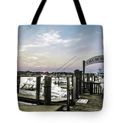 Speared Sunset Over Martha's Vineyard Tote Bag