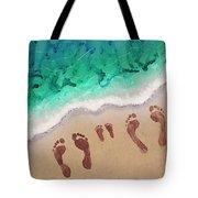 Speck Family Beach Feet Tote Bag
