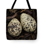 Speckled Killdeer Eggs By Jean Noren Tote Bag