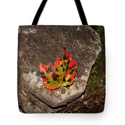 Speckled Leaf Tote Bag