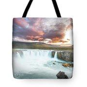 Spectacular Godafoss Tote Bag