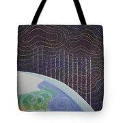 Spectrum Earth Spacescape Tote Bag