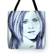 Speed Drawing Of Jennifer Aniston  Tote Bag