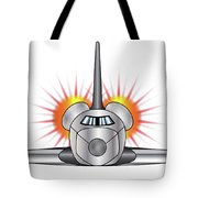 Speeding Space Shuttle Tote Bag