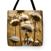Spent Flowers In The Field Tote Bag