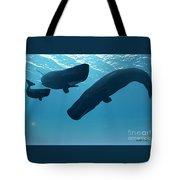 Sperm Whale Encounter Tote Bag