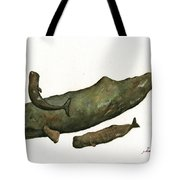 Sperm Whales Family Tote Bag
